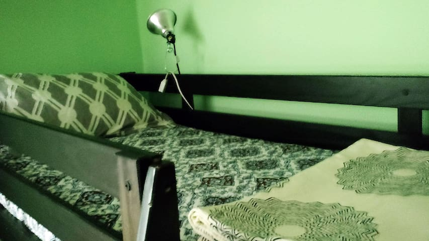 Loft Bed and Work Space for the Solo Traveler