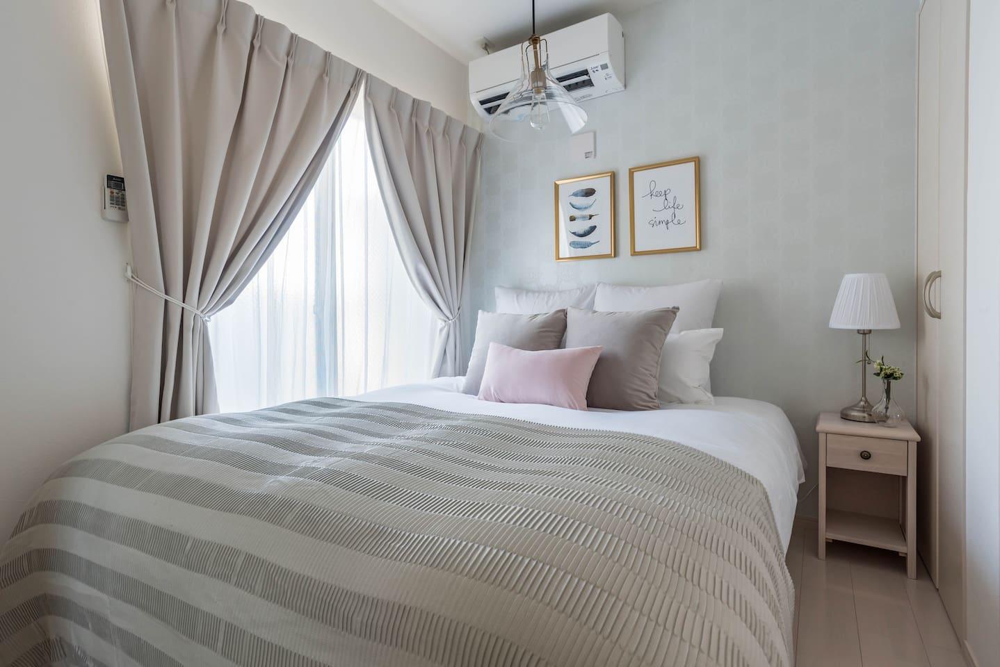 TypeA: 1 queen bed & 1 sofa bed.