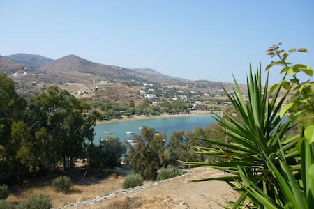 Apartment overlooking Otzias beach - Otzias