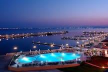 Stunning yacht marina at Sveti Vlas is full of cool bars and restaurants just 10mins walk away
