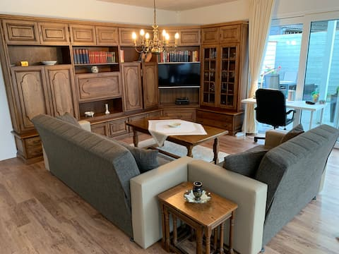 Aasee, 57 qm Apartment im EG, Terasse, Kamin