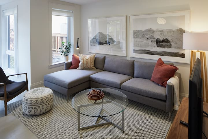 A supremely comfortable sectional sofa.