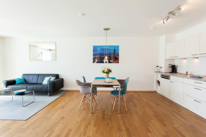 2-Zimmer-Design-Appartement am Stadtrand Freiburg