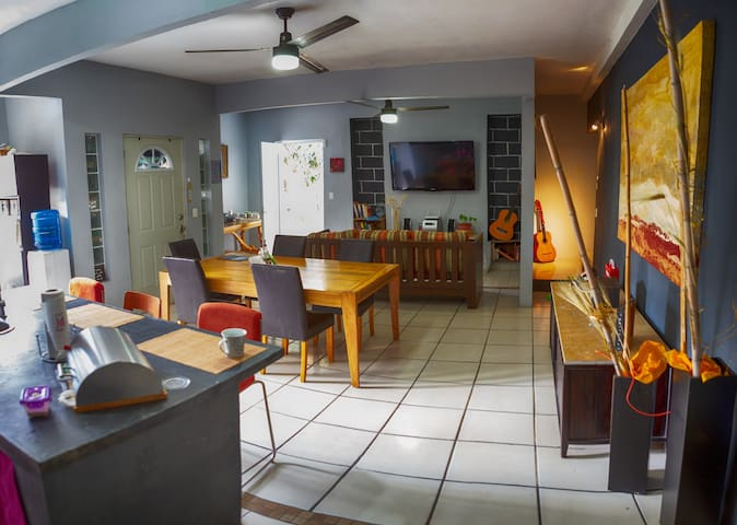 Share Dinning and Living Area
