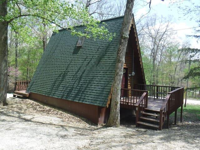 Cedar A Frame Chalet #3 on Patoka Lake S. Indiana