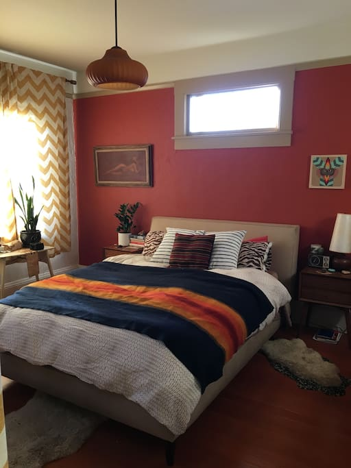 warm and colorful aesthetic details through out the house!