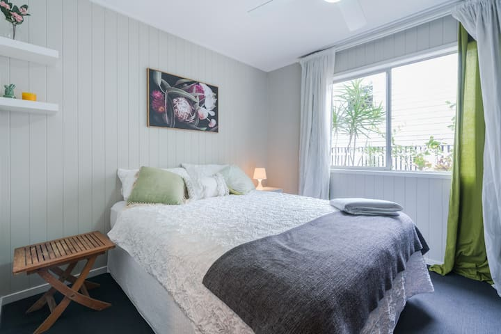The 2nd bedroom with ultra-comfy queen bed