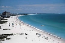 Gulf beaches are just 8-10 miles from the home, with miles of beautiful white sand, cool water, bars & restaurants, waters sports and so much more!