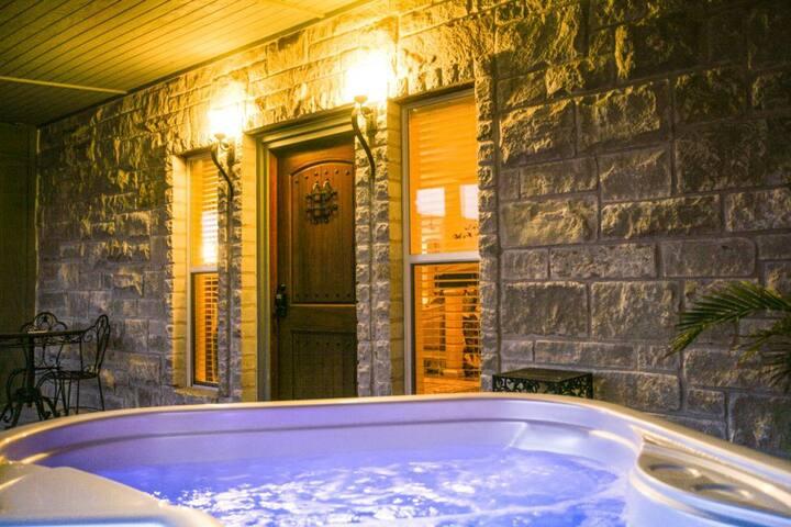Riesling Suite at Der Fels - Fredericksburg - Dormitorio para invitados