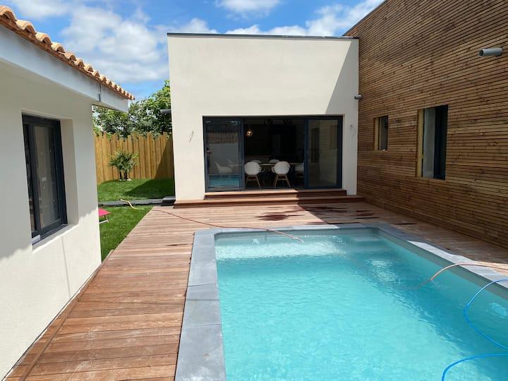 Libourne Villa +piscine à 2 pas de St Emilion