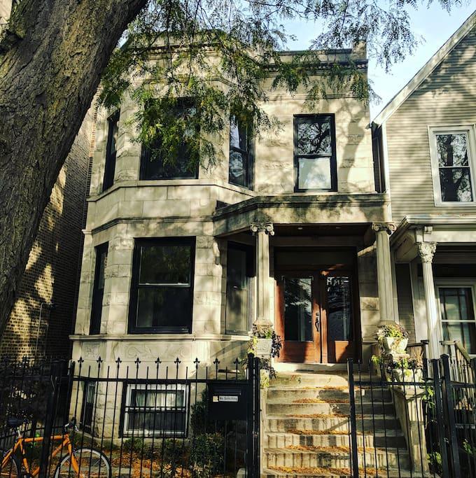 Gorgeous 1907 graystone exterior