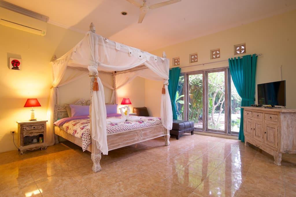 main bedroom pool view