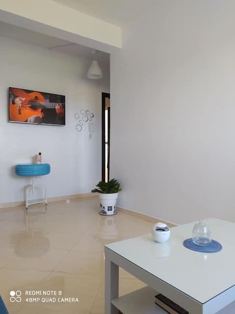 Appartement neuf très calme avec vue sur mer