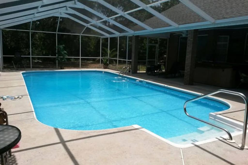 Beautiful screened in pool.