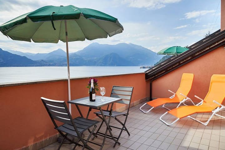 new apartment  view Lake 5 - Varenna - Daire