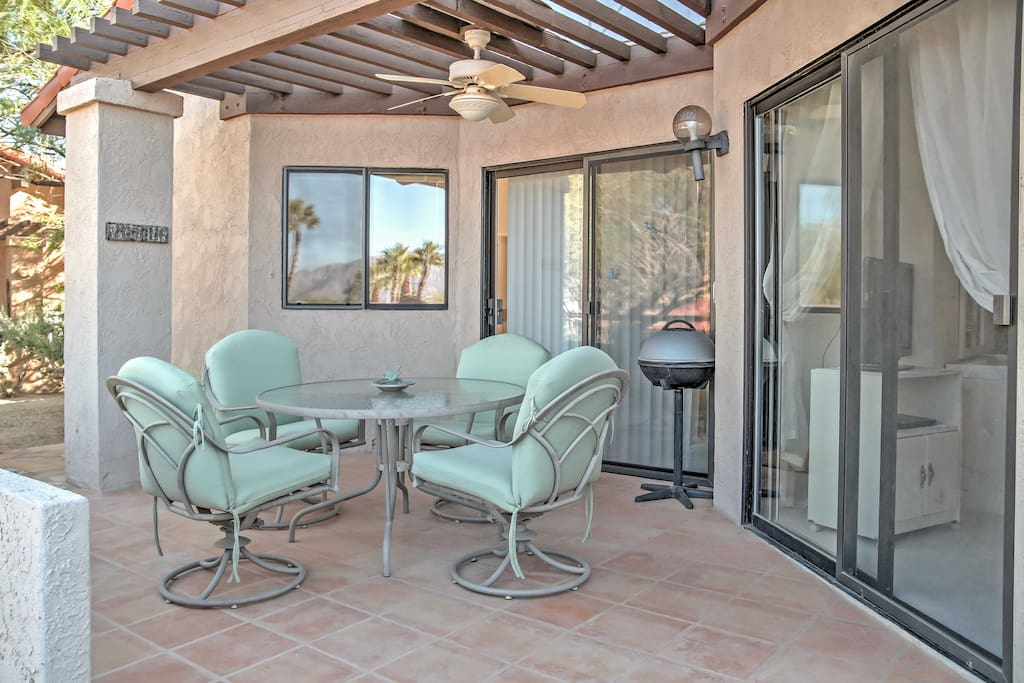 Look forward to relaxing on the spacious patio.