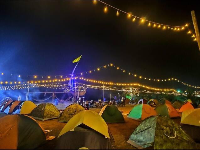 Beach Side Camping At Alibag