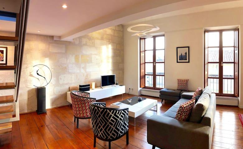 Lumineux Duplex 3ch au cœur historique de Bordeaux