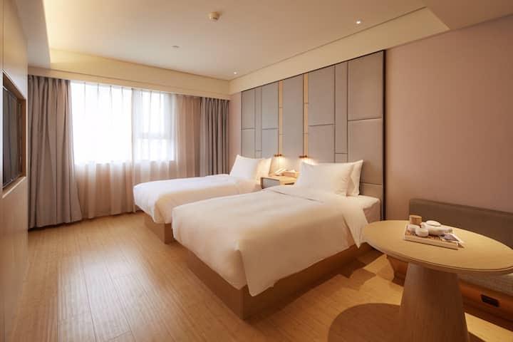 汉中全季人文公寓2张1.2米双床含早餐
