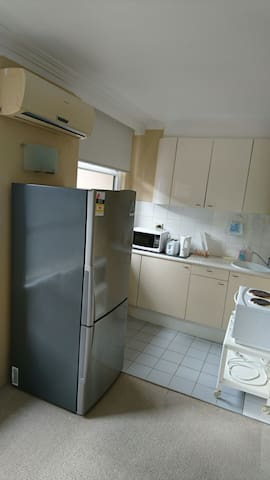 Big Fridge and freezer,Cupboard and storage,stoves oven,microwave,toaster,kettle etc