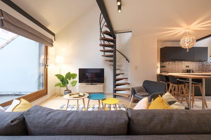 Splendid 1 bedroom duplex with terrace