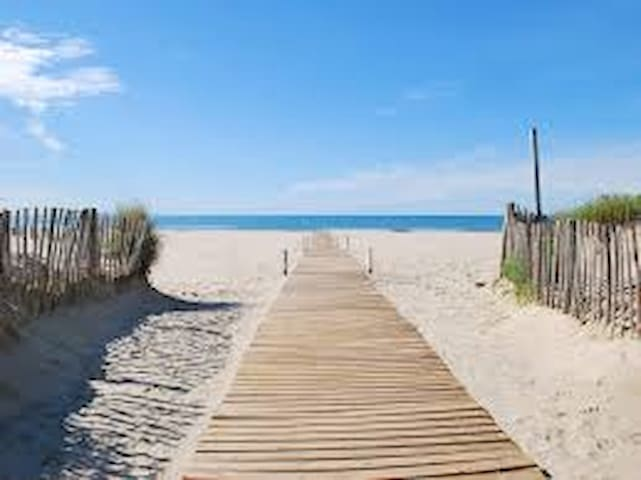 (Devant) Maison bord de mer + terrasse 25m2