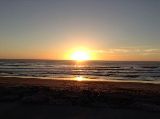 Sunset at Praia Grande beach