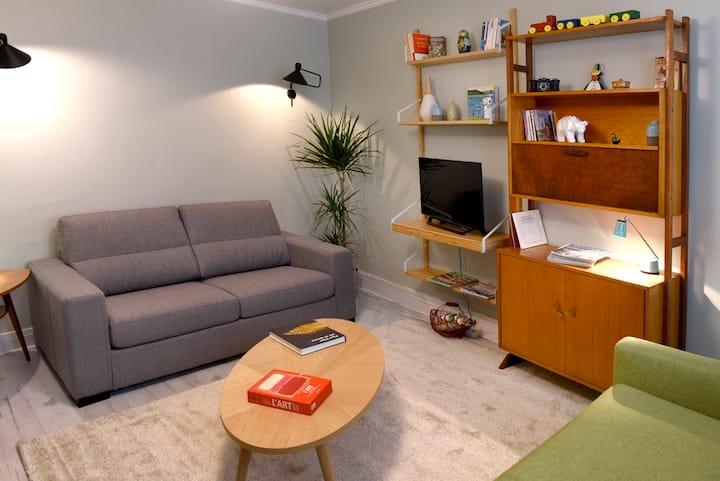 Appartement à 3 mn de la plage