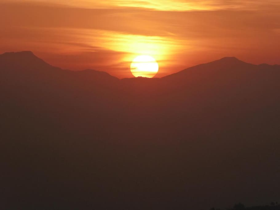 The amazing view of sunrise from the View Tower nearby my home