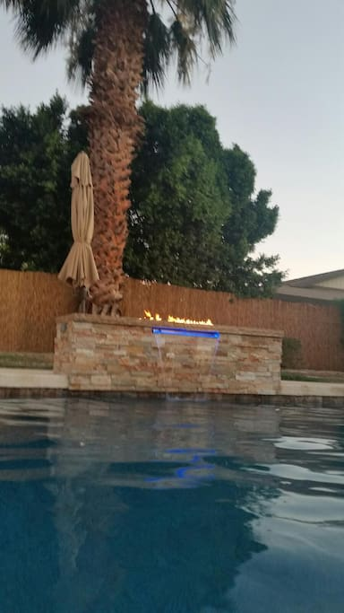 Water/fire feature