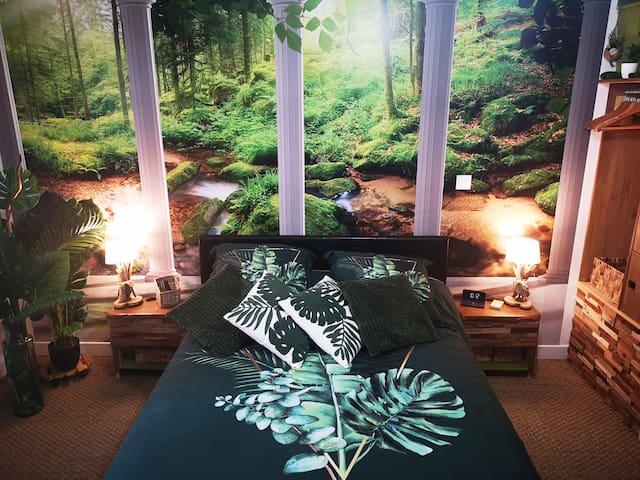 """La chambre """"cocooning"""" pour un repos en harmonie avec la nature."""