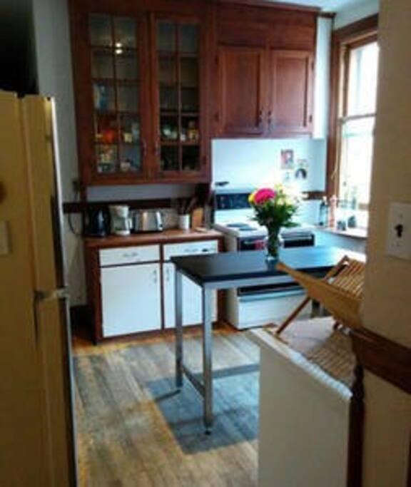 Common area: the kitchen