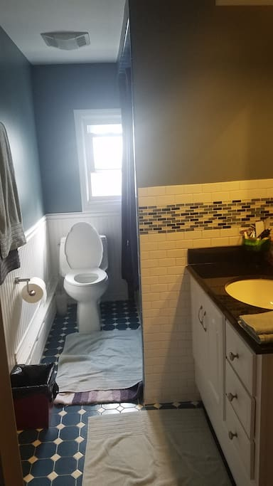 Full Private Bathroom w/ tub &shower