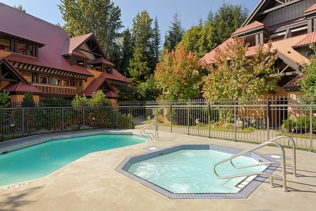 ...and come home to your Hot Tub and Heated Pool!  Extremely well maintained and a great place to make new friends and socialize or relax after a busy day of activities.