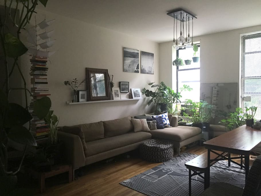 Large living room/common area.