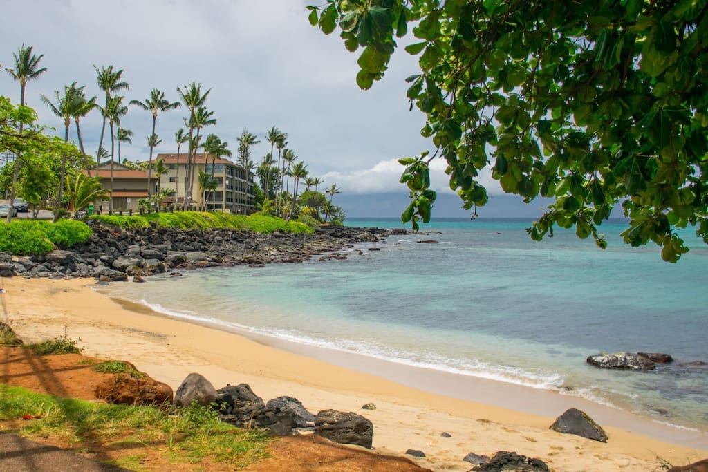 S Turns Beach a 2minute walk away!  Napili Bay Beach and Kaanapali Beach five minutes either direction.