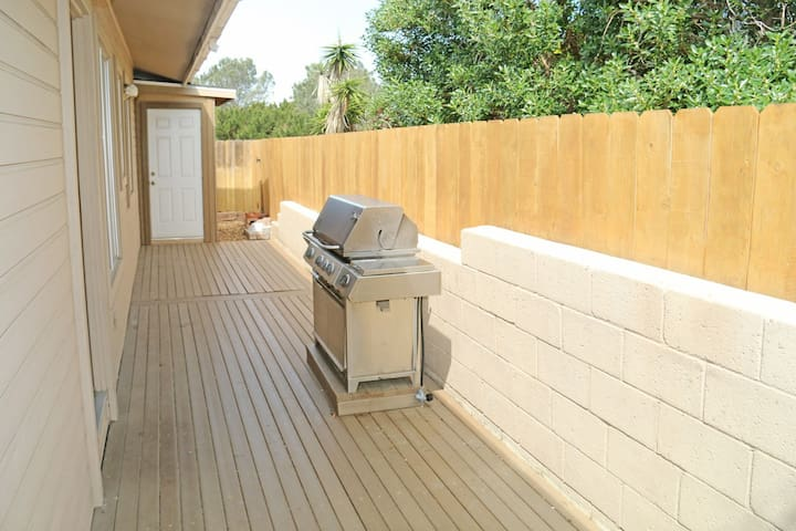 Grill and laundry room door