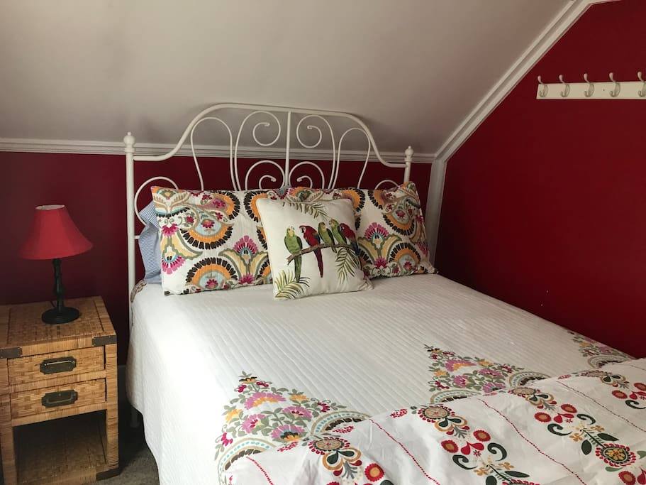 Upstairs bedroom #1 with queen bed.