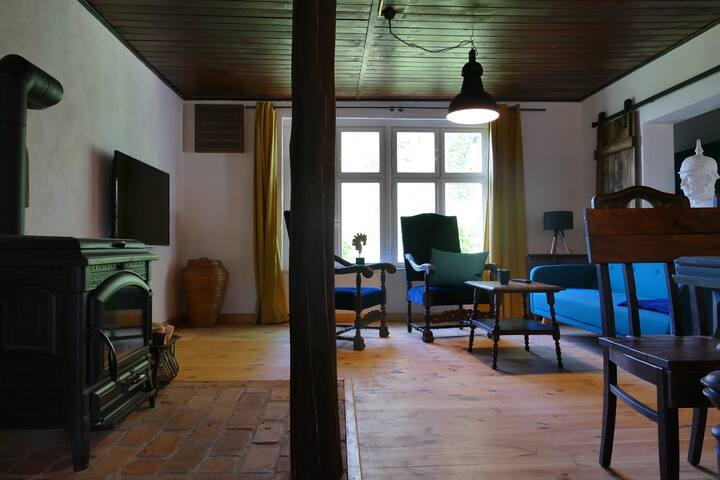 einzigartiges Haff Cottage mit Kamin und Sauna