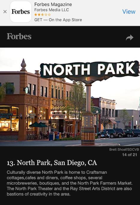 North Park was featured on Forbes !