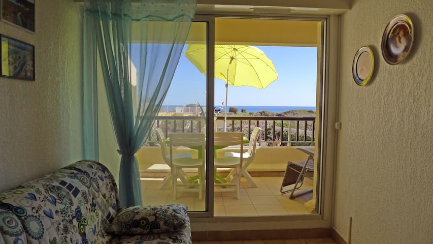 Studio with room in front of the See in Cap d'Agde