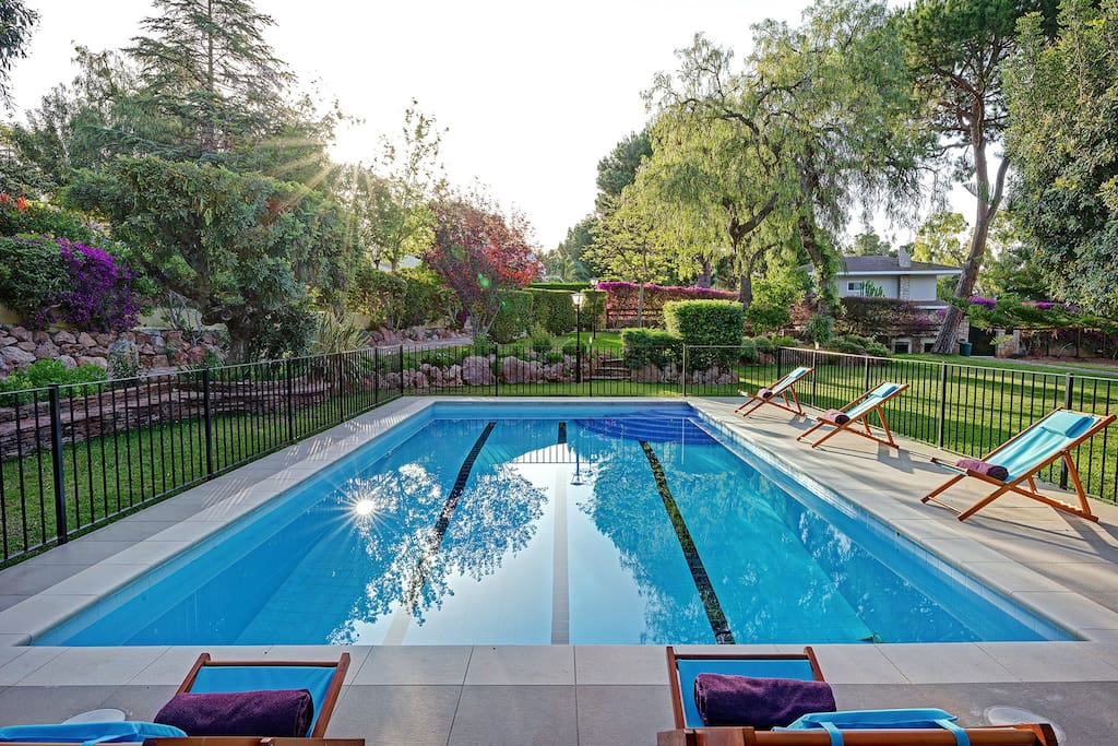 Large pool for those morning lengths and fun pool games