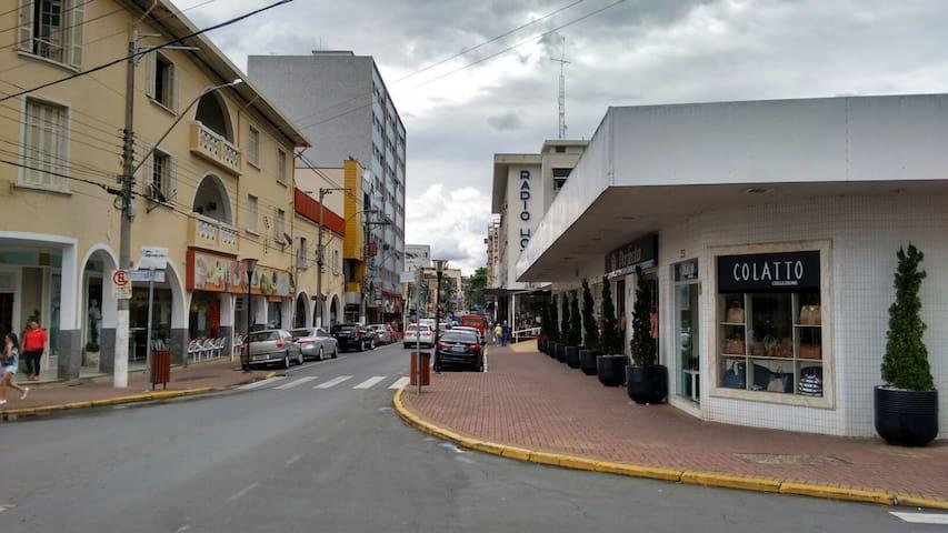 Apartamento Central em frente ao Rádio Hotel - Serra Negra - Apartment