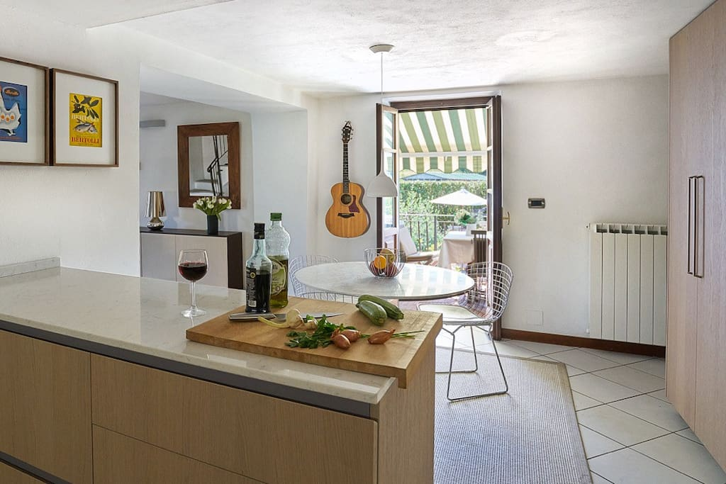Kitchen opens out on to the terrace