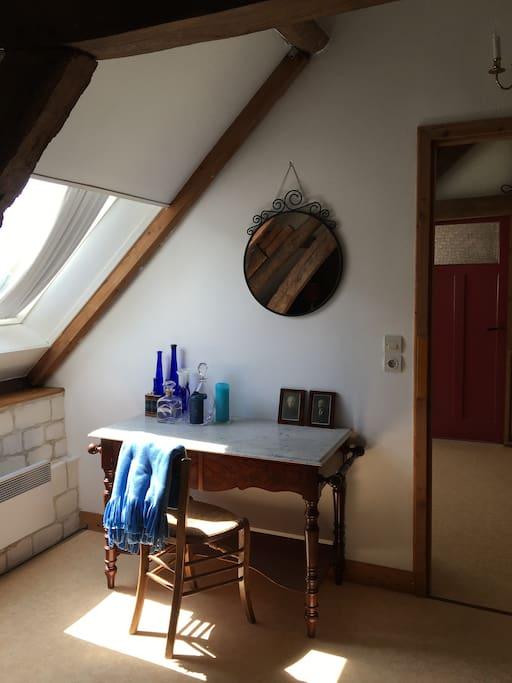Vanity table in the second bedroom