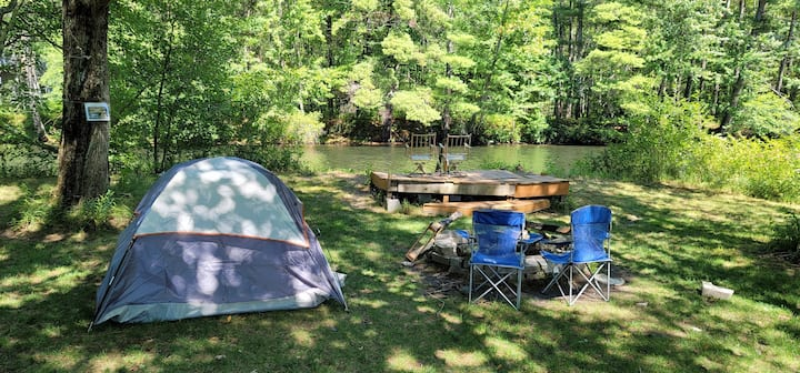 Campsite on the river
