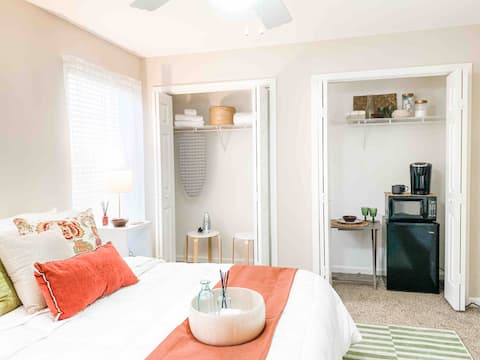 Delight in a Relaxing, Private Bed &  shared Bath
