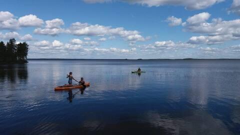 Kalasääksi, huvia Iso-Lamujärven rannalla