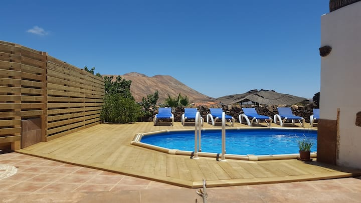 Charming Villa with Stunning Volcanic Views & Pool