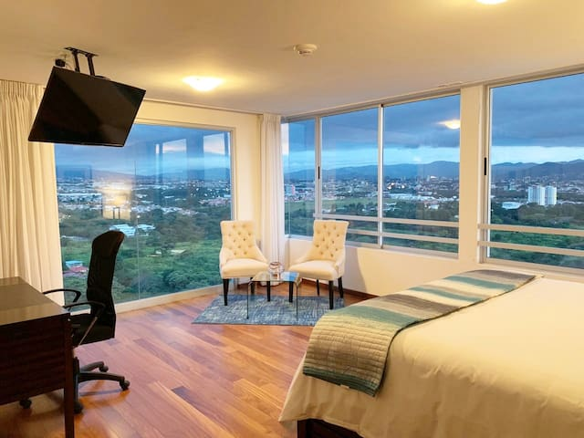 Penthouse Suite Master Bedroom View